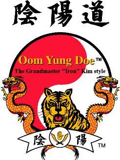Oom Yung Doe Logo, Tiger and Dragon over an Oom Yung Symbol